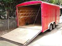 8 x 16 Haulmark Red Enclosed Box Trailer $3250. Rear
