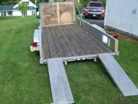 HEAVY DUTY 5000# FLAT BED TRAILER (NOT LAWN SERVICE