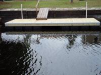 This 8' x 20' Floating Dock already has white dock