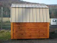 FOR SALE NEW 8' X 8' SOLID PINE STORAGE SHED WITH METAL
