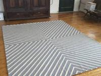 Rug is made from: 100 % wool.  The handmade,