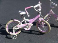 16 Inch Girl Bikes with Training Wheels Two bikes for