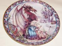 This 1992 plate by Jody Bergsma is from the Castles and