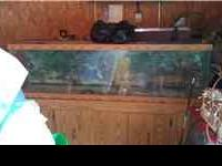 80 gallon fish aquarium with wood stand, includes top