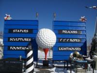 "80"" H 44"" D FIBERGLASS GOLF ROUND. This fantastic Golf"