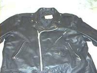 80's Berman's Vintage Heavy Leather Motorcycle Jacket