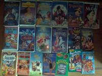 Have about 80 vhs movie's mostly kids movie's  take