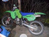 Have a 90 Kawasaki KX250 2-stroke for sale. Over all
