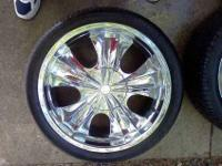 This is for a set of 4 Chrome Limited wheels. They have