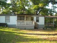 For rent nice 3 bedroom 2 bath doublewide on a large