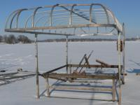 Nice boat lift for fishing boats or smaller v-bottoms,