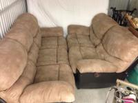 VERY COMFY microfiber reclining/massaging couch and