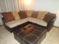 We bought this sectional and oversized ottoman brand