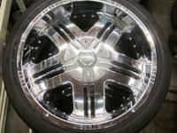 SINIK CHROME RIMS & TIRES 22 INCH 5 LUGS - 5X5.0 BOLT