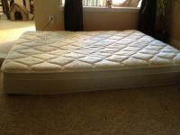 Sleep Number Bed. Queen size with foam comfort pad and