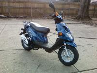 50CC Blue ETON Beemer scooter, 2 stroke engine,