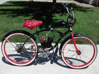 Hi i have a 80cc 2-cycle motorized bicycle on a 26""