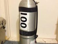 Hi, I have for sale an 80cf aluminum scuba tank. Has a
