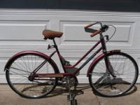 "1986 Huffy Open Road 3 Speed Comfort Cruiser 19""frame &"