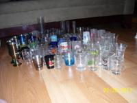 FOR SALE: 82 Assorted shot glasses. . ..all different