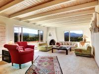 High on a hilltop this unique property affords a 360