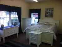 White Cottage Bedroom Set ~ Includes Queen Headboard -
