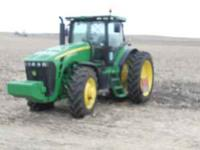 A 2010 John Deere 8270R tractor for sale. Power shift,
