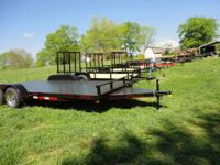 82x18? Dovetail Steel Floor Car Hauler Trailer with