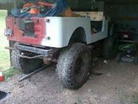 83 cj7, 258 6 cyl, 4-speed, 89 wrangler tub, 11 inch