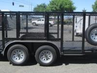 "Pre-Owned 83"" x 16' Landscape Trailer 7,000lb GVWR Two"