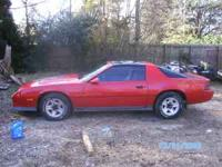 83 Z28 camaro,red t top,350 crate motor,holley 600,auto