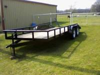 """This 83""""x16' dual axle utility trailer is extra wide"""
