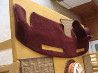 Dark Maroon dash mat for Chevy Monte Carlo SS, Monte