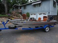 Boat and trailer 84' Bass Tracker W/40 HP Merc Motor, 2