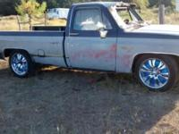 1984 C10 fire damage under hood .Rebuilt 350 engine ,