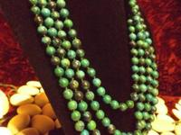 "84"" Malachite Necklace For more information reply via"
