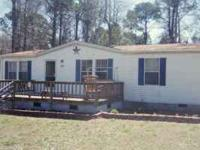 o Manufactured home (double-wide) southeast N.C. o 3