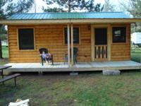 General size is 12'x24' with covered deck. Sleeps 6