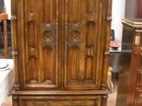 ARMOIRE $85.00 CHECK US OUT BOOKS --DISHES--