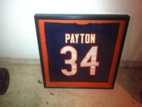 Framed and matted genuine 1985 Chicago Bears Walter
