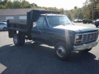For sale is a 1985 Ford F350 Dumptruck. It has auto