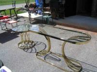 two metal & glass l/r tables $85.00 COME BY AND LOOK