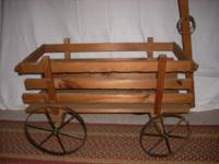 Rustic wood farm wagon Excellent condition Overall size
