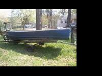 We have a 14ft Aluminum semi V-Hull boat for sale. Was