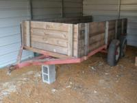 This trailer is in good shape, it is aroud 4 1/2' wide