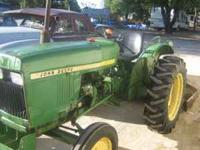 850 JOHN DEERE TRACTOR WITH BUSH HOG 25097 HOURS SERIAL