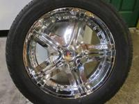 MKW 20 INCH 5 LUG CHROME RIMS & TIRES - 5X5.5 & 5X135