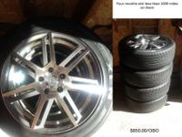"I have 4 18"" Enkei Aletta rims w/ tires for sale. They"