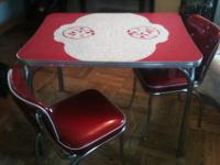 Gorgeous Vintage Chrome and Formica Dinette Table with