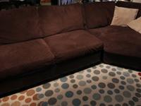 Microfiber/leather sectional and love seat in great